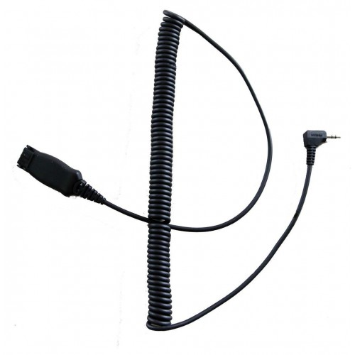 TruVoice Compatible QD to 3.5mm Bottom Cord - Coiled