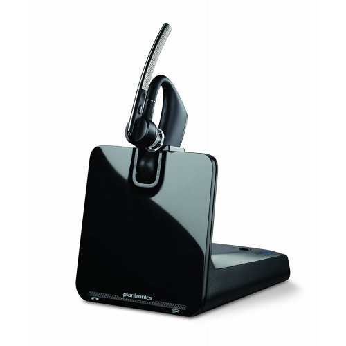 Plantronics B335 Over-The-Ear Wireless Headset For Deskphone And Mobile Support, With Hl10 Handset Lifter