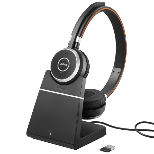 Jabra Evolve 65 Uc Mono Wireless Headset W Charging Stand