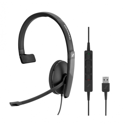 EPOS Adapt 130 USB II On-Ear Single Sided USB Headset With In-Line Call Control And Foam Earpads